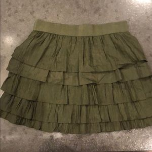 Layered Flair Silk Skirt